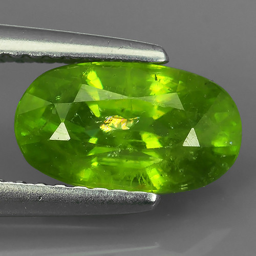 WOW!!!2.20 CTS- Hot Neon Green Sparks- Sphene/Titanite- oval