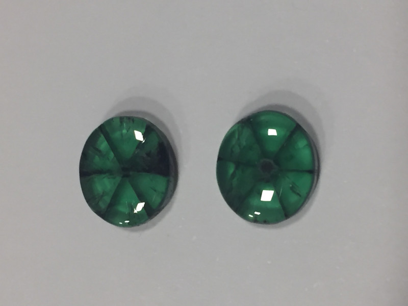 Pair of Colombian Emerald Trapiches 7,43ct Colombian Emerald Colombian Emer