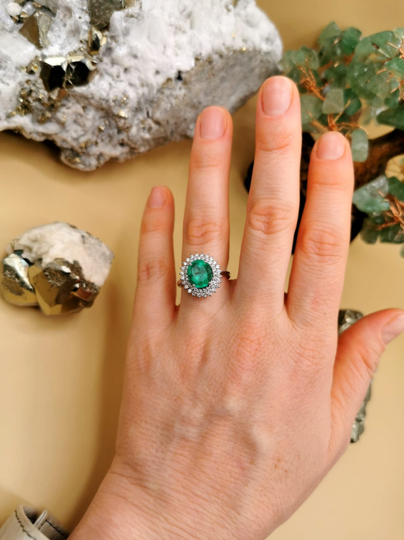 2,82ct Colombian Emerald 18k Solid Gold Ring colombian emerald natural emer