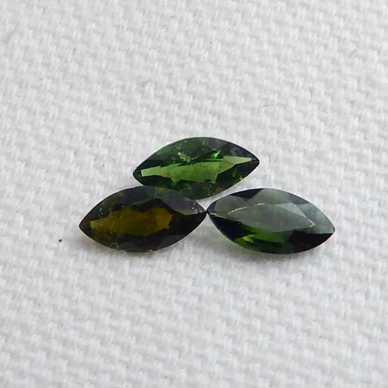 3pcs Beautiful Green Tourmaline Cabochons ,Summer Gemstone ,Healing