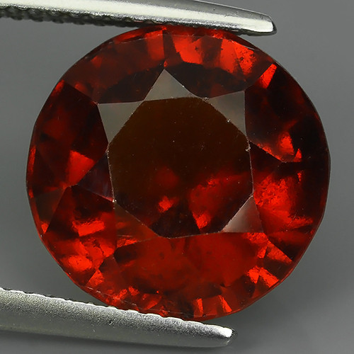 8.80 Cts Natural Reddish Orange Hessonite Garnet Round Cut Beautiful!!