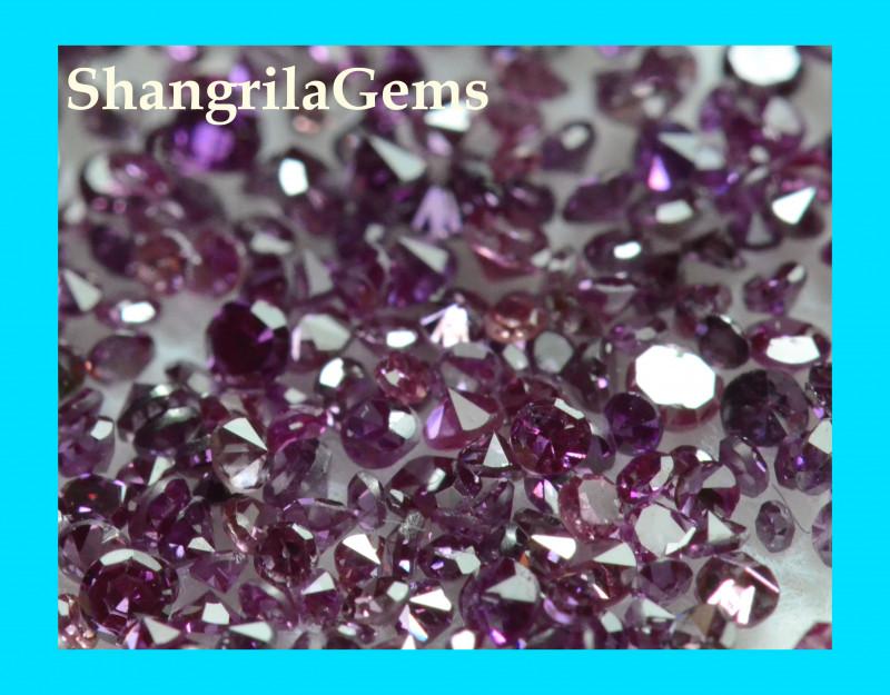 1.1 to 1.2mm Purple diamonds 20 diamonds 0.2ct approx from Botswana treated