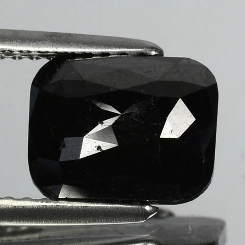 2.34 Cts Natural Coal Black Diamond Fancy Cushion Cut Africa