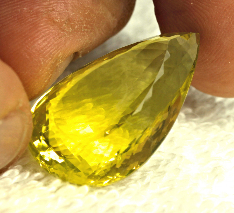 41.52 Carat African VVS Lemon Quartz Pendant Stone - Gorgeous