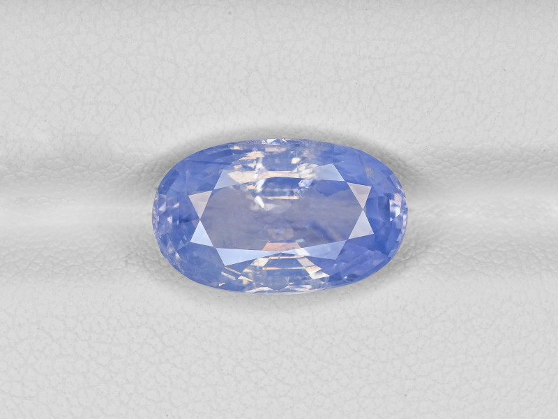 Blue Sapphire, 6.69ct - Mined in Kashmir | Certified by SSEF, GIA & GRS