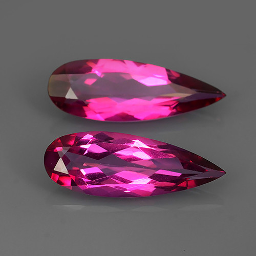 10.60 CTS SUPERIOR! TOP PEAR CUT HOT PINK-COTED TOPAZ NR!!