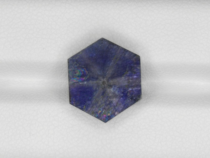 Trapiche Sapphire, 11.09ct - Mined in Afghanistan | Certified by GRS