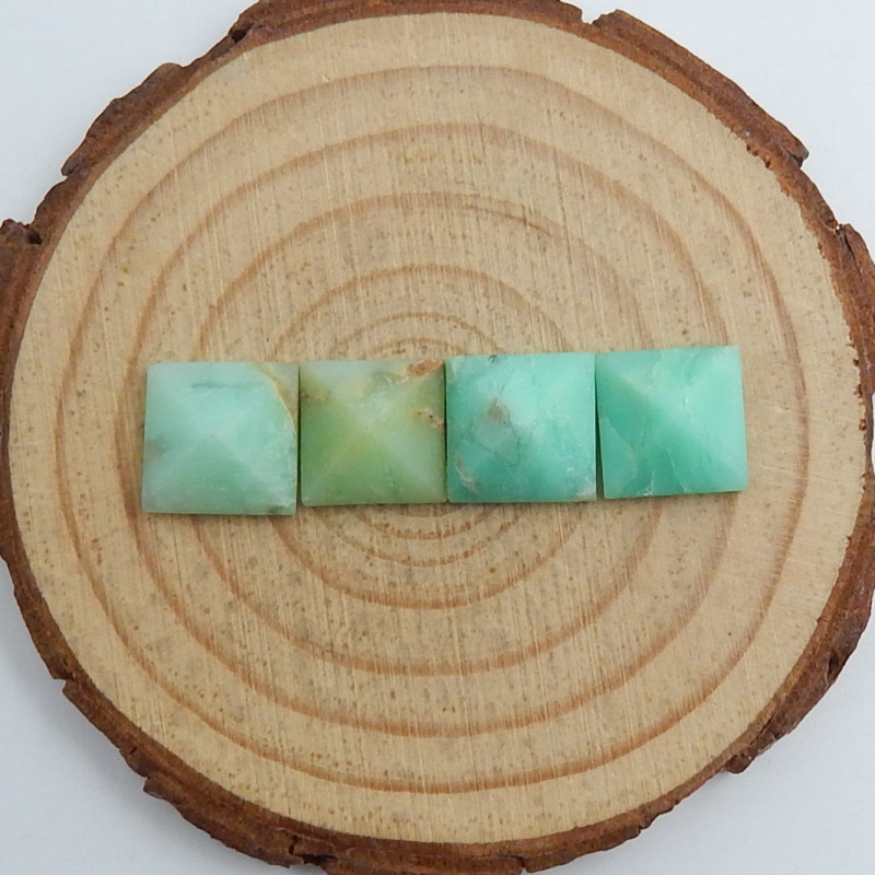 Semi Precious Green  Pyramid Chrysoprase Gemstone, Chrysoprase For jeweller
