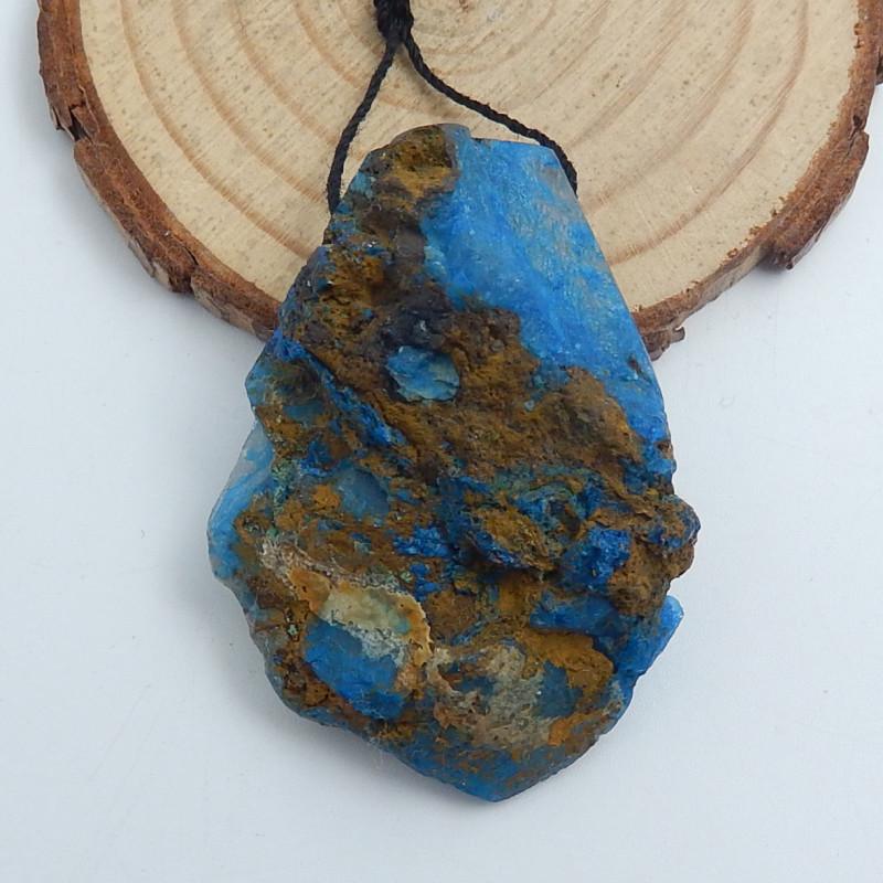 146cts Chrysocolla Stone Pendant, Raw Chrysocolla Healing stone C722