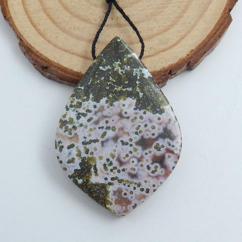 Ocean Jasper Pendant ,Natural Ocean Jasper ,Heart Pendant ,Wholesale C726