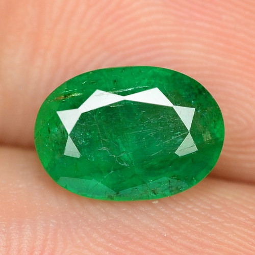 1.46 Cts NATURAL EARTH MINED GREEN COLOR COLOMBIAN EMERALD LOOSE GEMSTONE