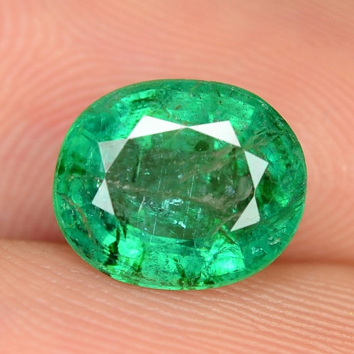 1.75 Cts NATURAL EARTH MINED GREEN COLOR COLOMBIAN EMERALD LOOSE GEMSTONE