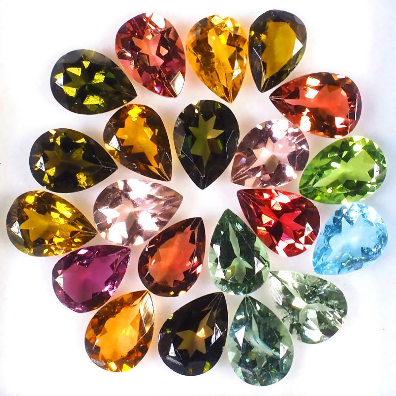 12.90ct Tourmaline Parcel 21 pieces - VVS gems - great sparkle