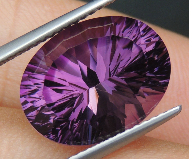 7.31cts, Amethyst,  Top Cut, Clean, Untreated,