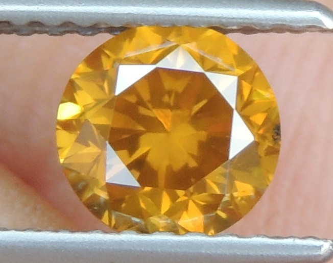 1.00cts, Diamond,   Vivid Orange Diamond