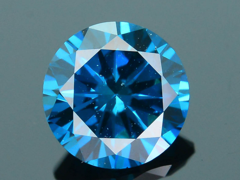 AIG Certified Electric Blue 0.50 ct SI2 Clarity Diamond SKU-12