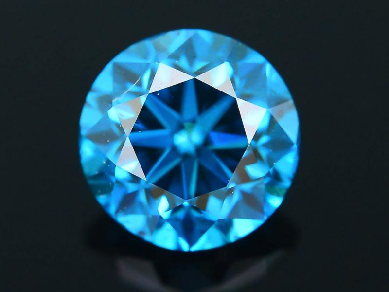 AIG Certified Electric Blue  0.50 ct SI2 Clarity Diamond SKU-12