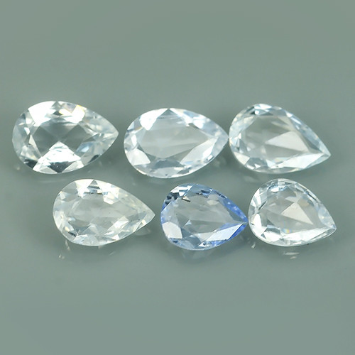 1.95 CTS BEST QUALITY~TOP WHITE EXTREME WONDER LUSTROUS GENUINE SAPPHIRE!