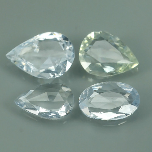 1.65 CT BEST QUALITY~TOP WHITE EXTREME WONDER LUSTROUS GENUINE SAPPHIRE