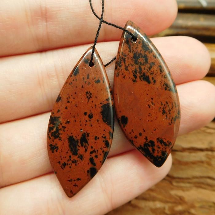 New arrival mahogony obsidian earring pairs  (G0336)