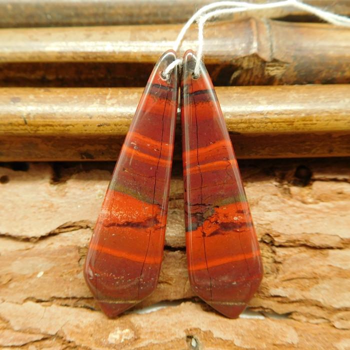 red jasper earring pairs (G0340)