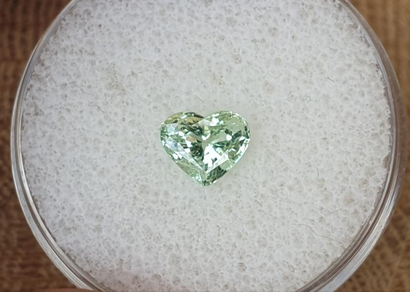 1.08ct Tsavorite Garnet - Heart cut!