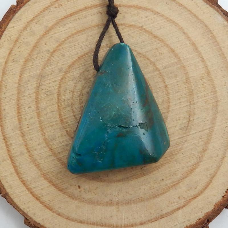 29.5cts  Chrysocolla Stone Pendant, Raw Chrysocolla Healing stone C752