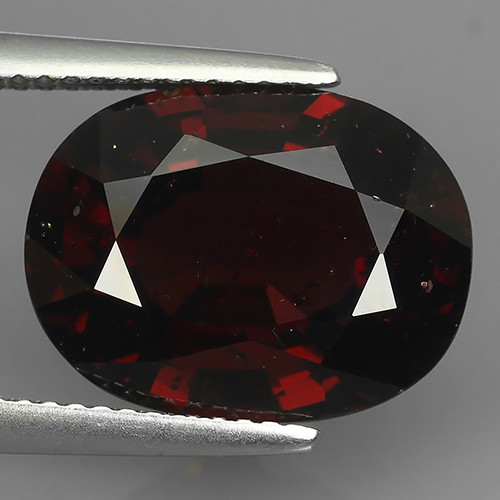 11.00 Cts EXQUISITE NATURAL UNHEATED RED OVAL SPESSARTITE