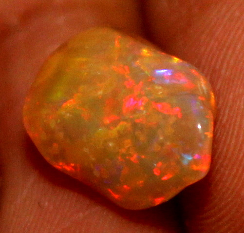 2.30 Crt Natural Ethiopian FreeForm Welo Fire Opal Carvin 728