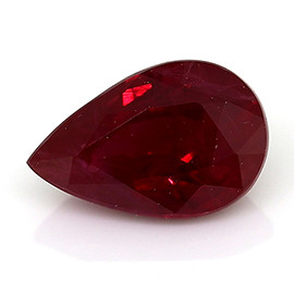 0.43 ct Pigeon Blood Red Pear Shape Ruby