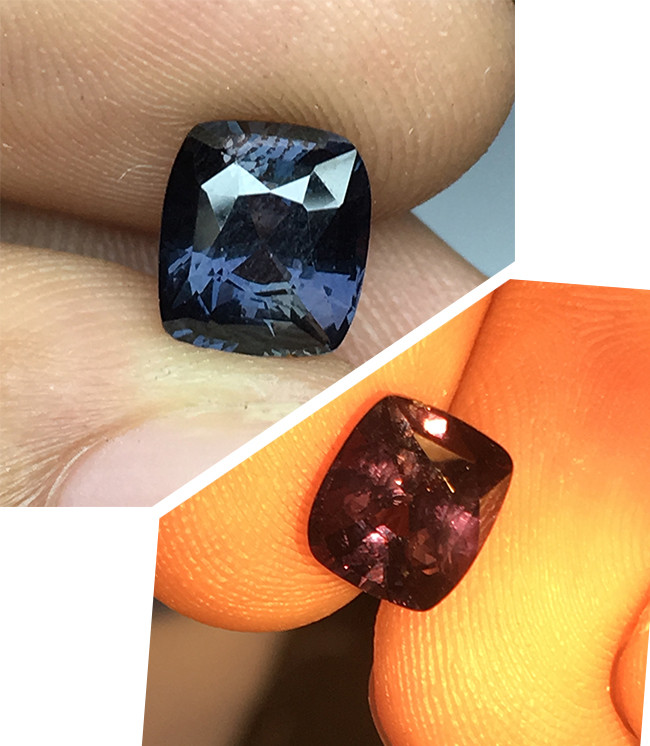 2 ct Natural Colour Change Sapphire