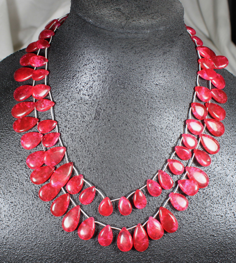 605.0 Tcw. Ruby Necklace - Gorgeous