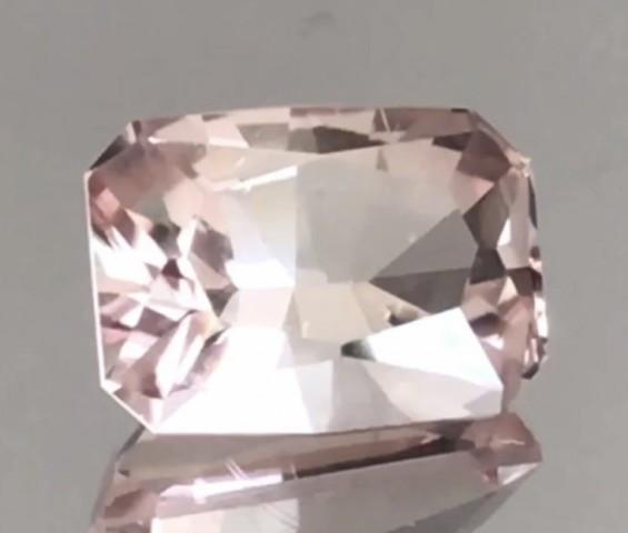 Pretty Pinkish Peach Custom Cut Tourmaline  G577