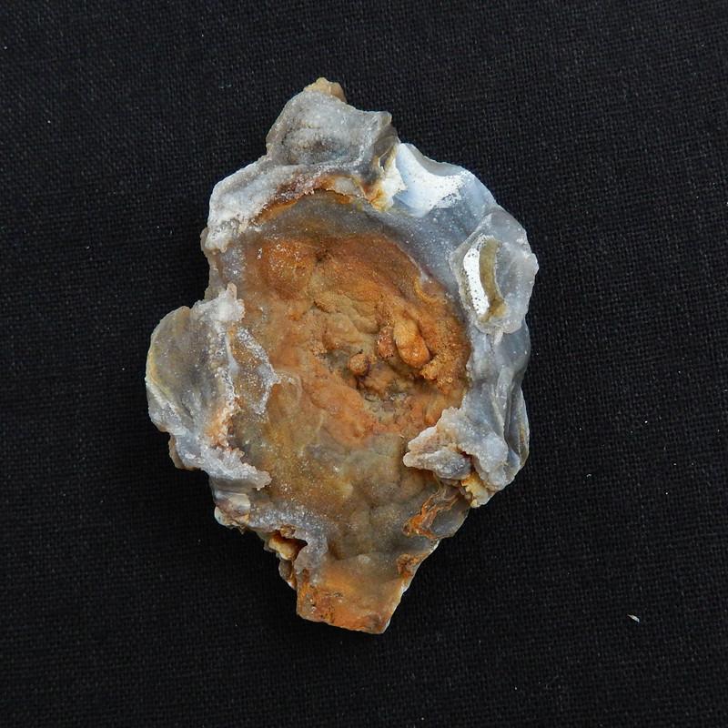 Natural rare mushroom agate nugget gemstone specimen, 78x53x17mm H6041