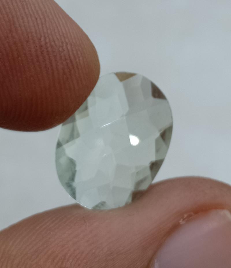 16x12mm Natural Green Amethyst Checkered Gemstone UnTreated VAF66