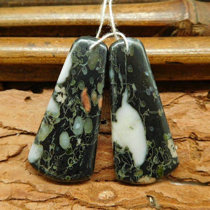 Poppy jasper earring bead (G0395)