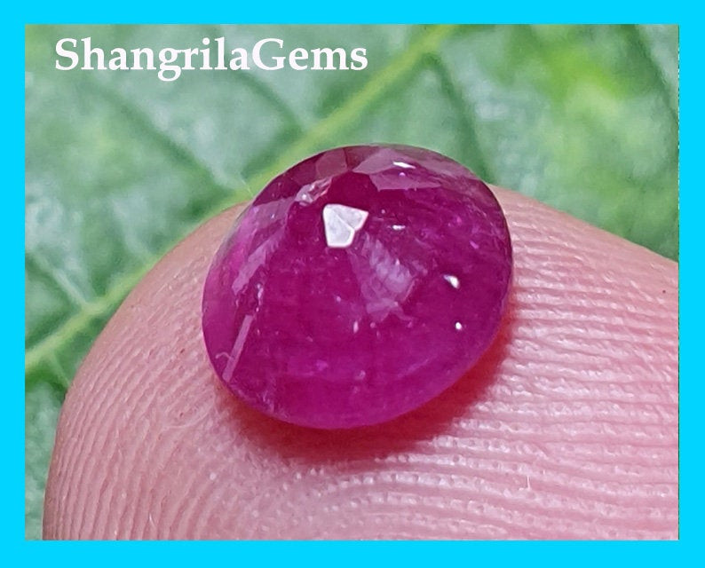 7mm 1.48ct Ruby rose cut round gemstone natural heat only treatment 7mm by