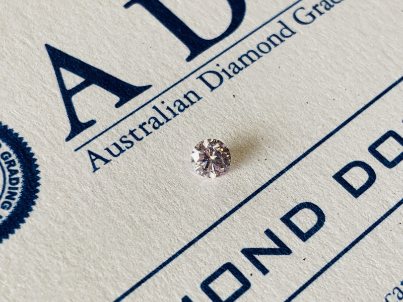 0.23ct 9PP I1 Argyle Pink Diamond