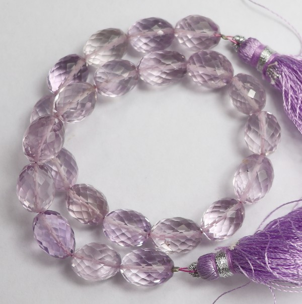 AAA+ 8X10-8X12MM PINK AMETHYST FACETED DRUM BEADS-MAGICAL