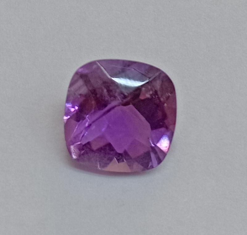 9x9mm Amethyst Checkered Natural Gemstone UnTreated VAF132