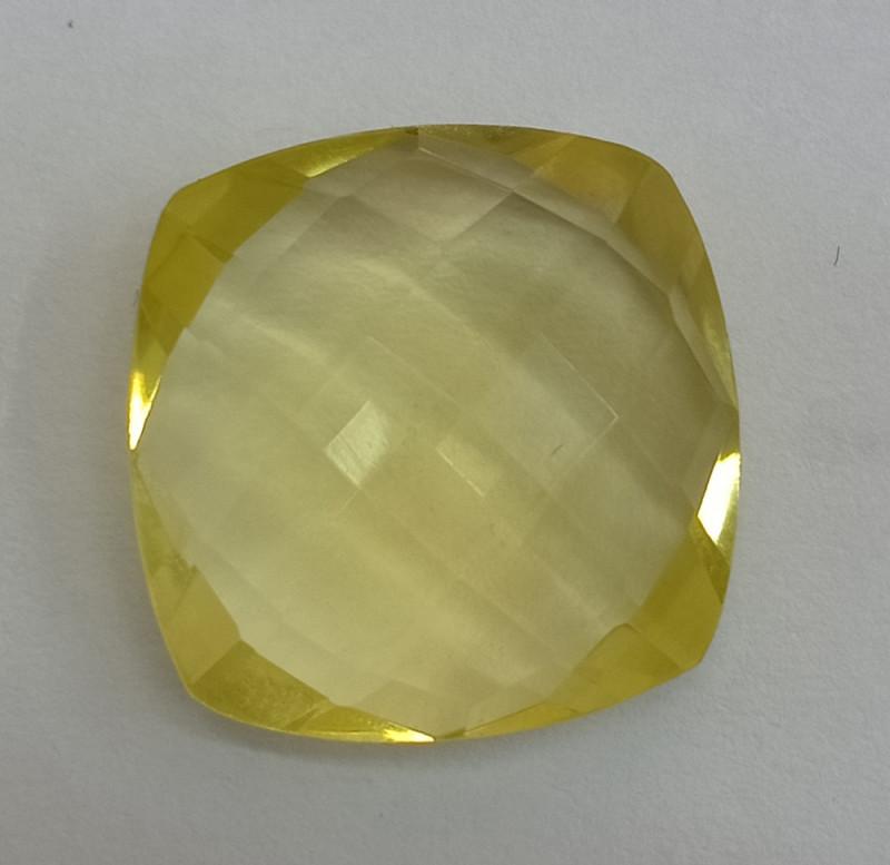 16x16mm Lemon Quartz Checkered Natural Untreated VAF154