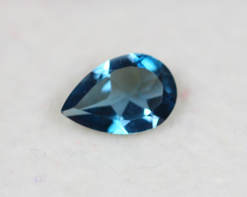 1.20Ct Natural London Blue Topaz Pear Cut Lot E17