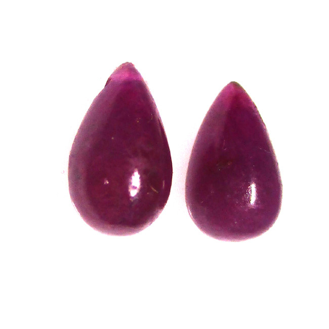 3.99cts Ruby Filled Matching boul drops