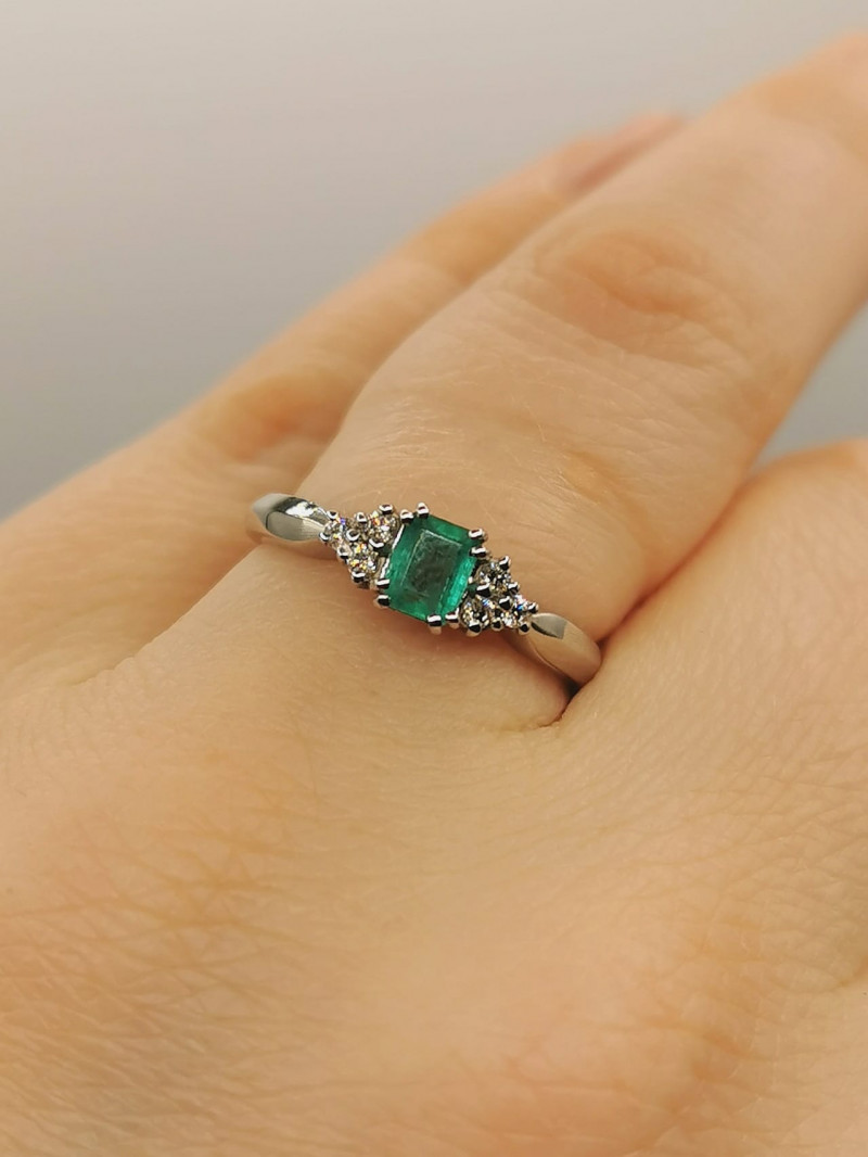 0,30ct Colombian Emerald 18k Solid Gold Ring Colombian Emerald Colombian Em