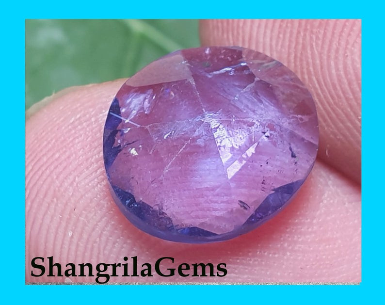 11mm 3.8ct Tanzanite rose cut gemstone cabochon round free form 11 by 10 by