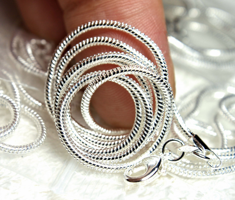925 Sterling Silver Chains - 16 inches - 5 Pcs