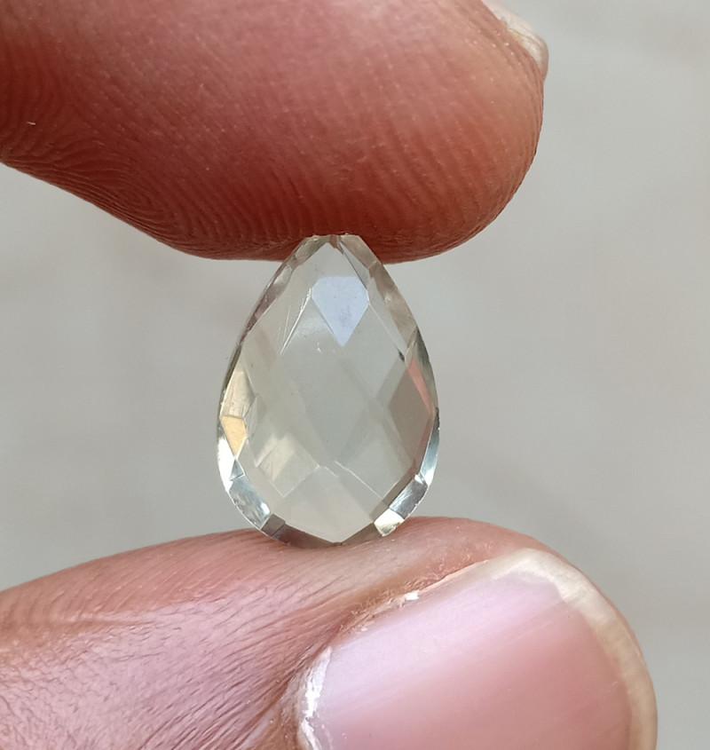 GREEN AMETHYST CHECKERED CUT Natural Gemstone VA5872