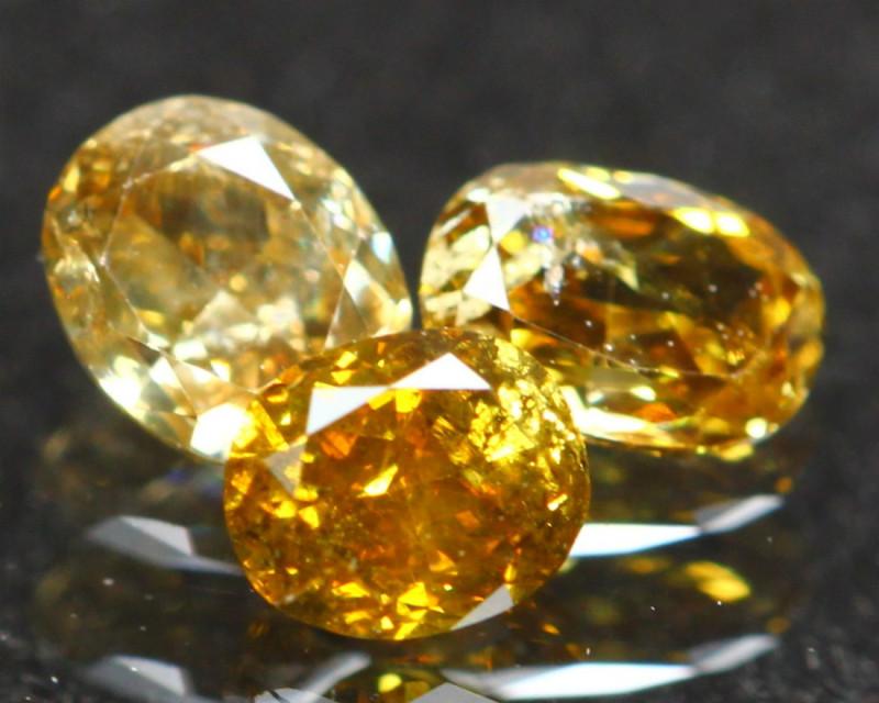 0.61Ct Fancy Orange Natural Diamond A1401