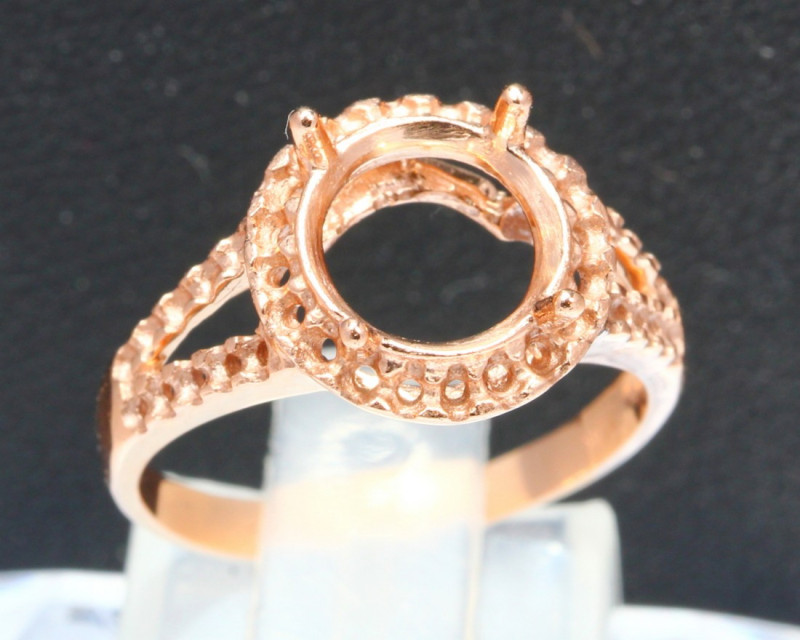 Genuine 2.07g 10Kt Pink Rose Gold Casting Ring Ready To Set A1402