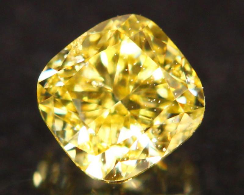 0.23Ct Vivid Intense Yellow Fancy Natural Diamond B1402